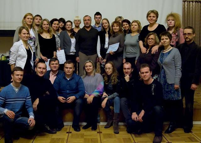 Вручение сертификатов НЛПт-консультантов 2012 год